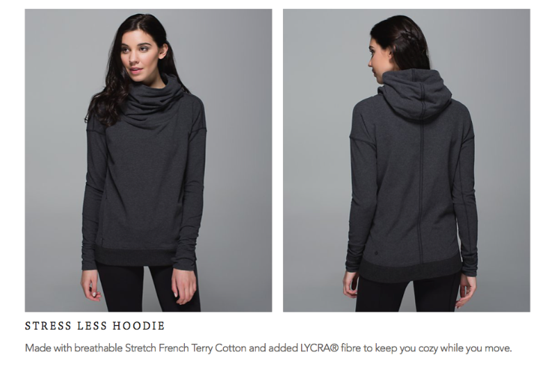 lululemon stress less hoodie