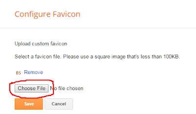 add favicon into your blogspot blog