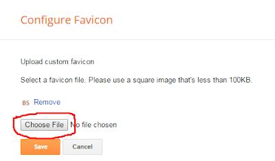 add favicon into your blogspot blog
