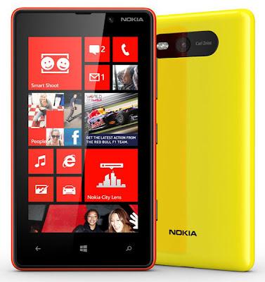 Nokia Lumia 820, Harga Nokia Lumia 820, Spesifikasi Nokia Lumia 820