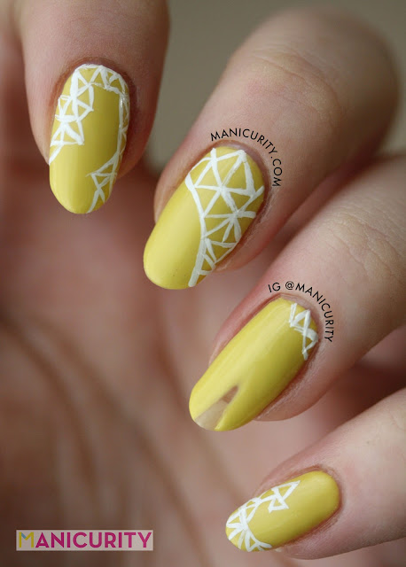 Manicurity | Fractal Nail Art inspired by IZMAYLOVA Spring/Summer 2013 (Gabby Douglas Teen Choice Awards dress)