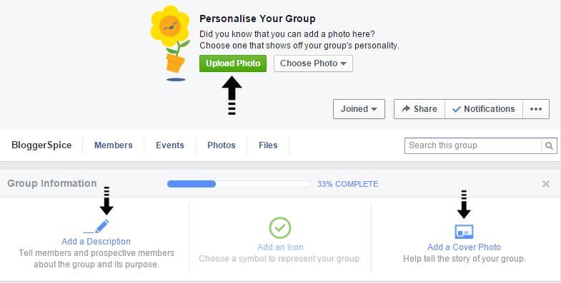personalize group