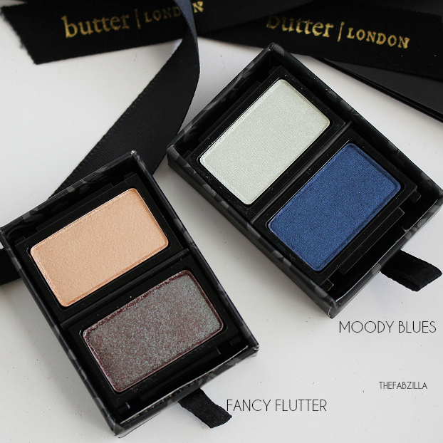 butter LONDON ShadowClutch Customizable Colour Palettes, Fancy Flutter, Moody Blues,Review, Swatch, Fall Makeup