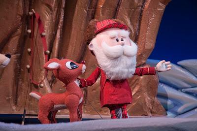 Young Rudolph and Santa