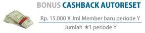 Rumus Bonus Cashback Autoreset