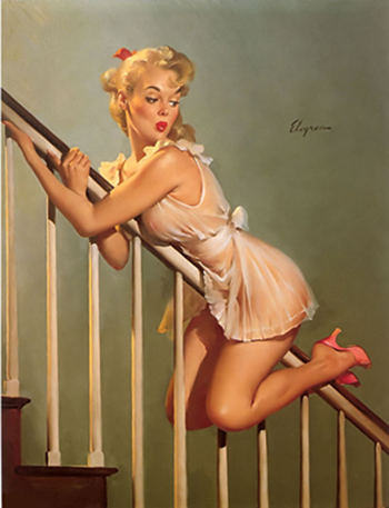 Vintage blue jeans pin up girls for Classic 50s housewife