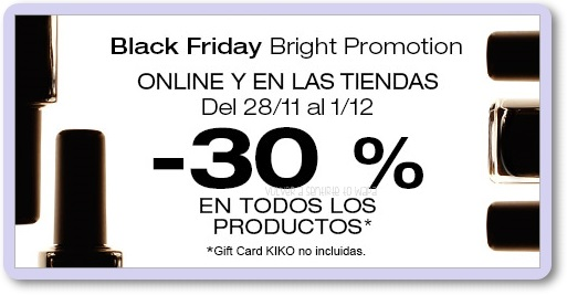 28/11 - BLACKFRIDAY - KIKO