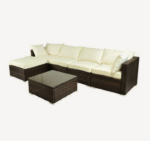 sale off 47 outsunny deluxe outdoor patio pe rattan wicker sofa sectional furniture set. Black Bedroom Furniture Sets. Home Design Ideas