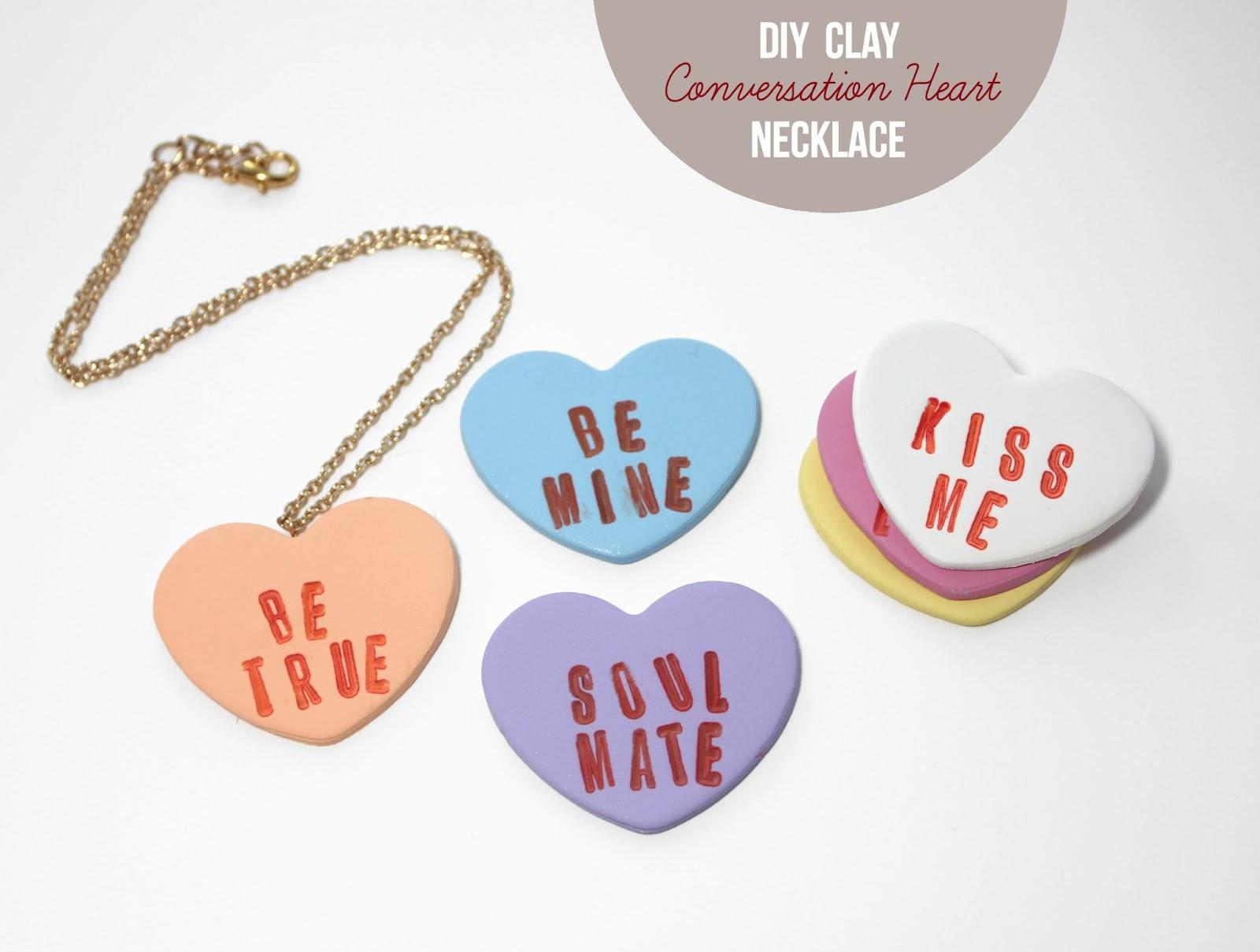 DIY Clay Candy HeartsLines Across