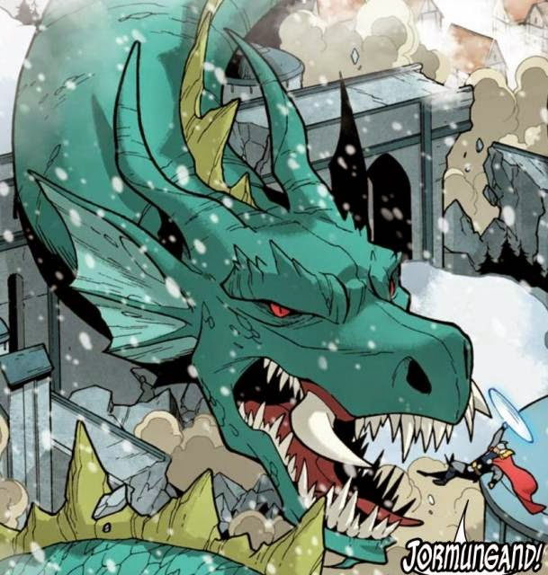 Thor Midgard Serpent in Ragnarok Marvel Cinematic Universe
