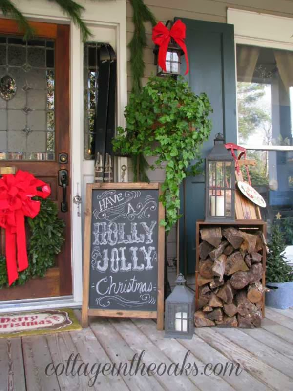 Demixx Vintage: Christmas Porch Vintage Decorating Ideas