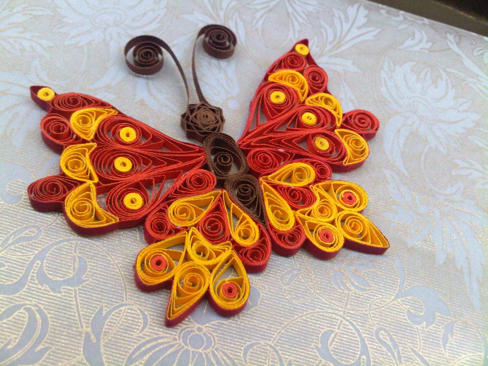 Quilling designs butterfly images for Best quilling designs