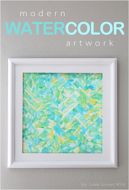 Modern Watercolor Kids Art by Love Grows Wild for 52 Mantels