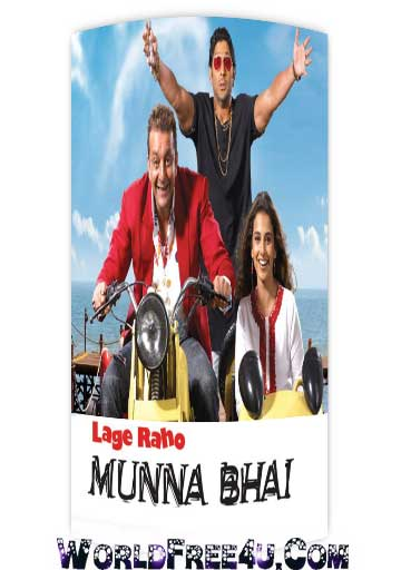 Poster Of Bollywood Movie Lage Raho Munna Bhai (2006) 300MB Compressed Small Size Pc Movie Free Download worldfree4u.com