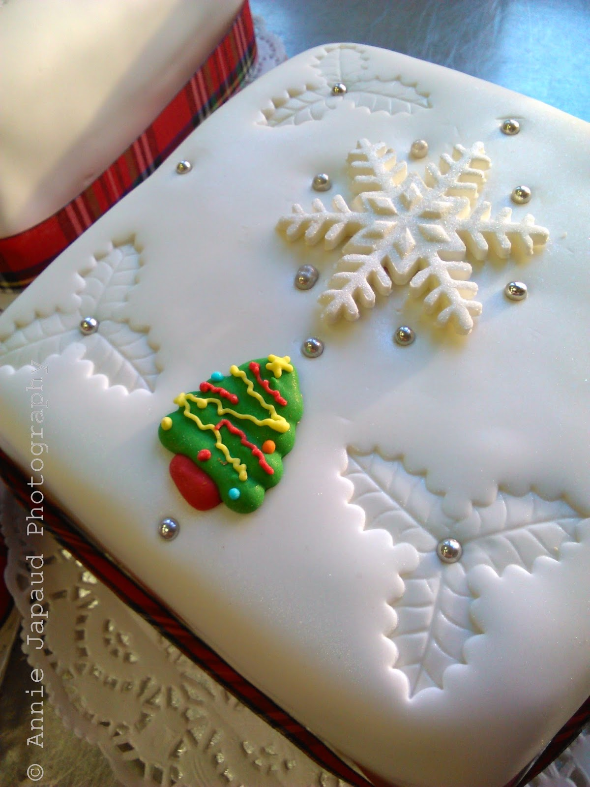 image of a Christmas cake