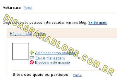 bloquear seguidores do blog