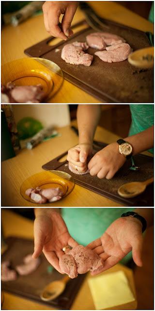 Отбиваем мясо с перцем