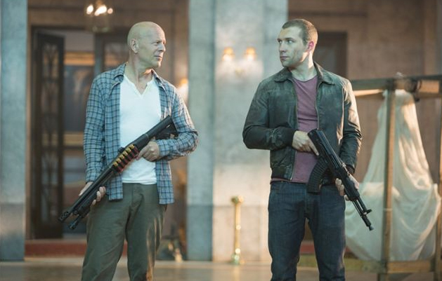La Jungla: Un buen día para morir, Bruce Willis y Jai Courtney