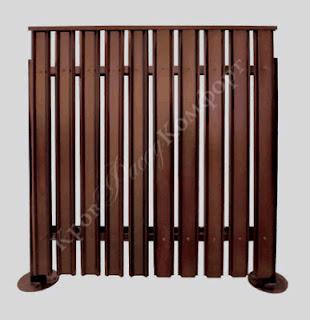 Забор штакетник из профлиста. Фото 10