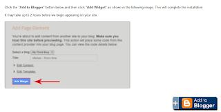 adicionar gadgets no Blogger com botão