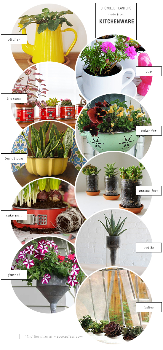 10 unexpected upcycled planters made from kitchenware
