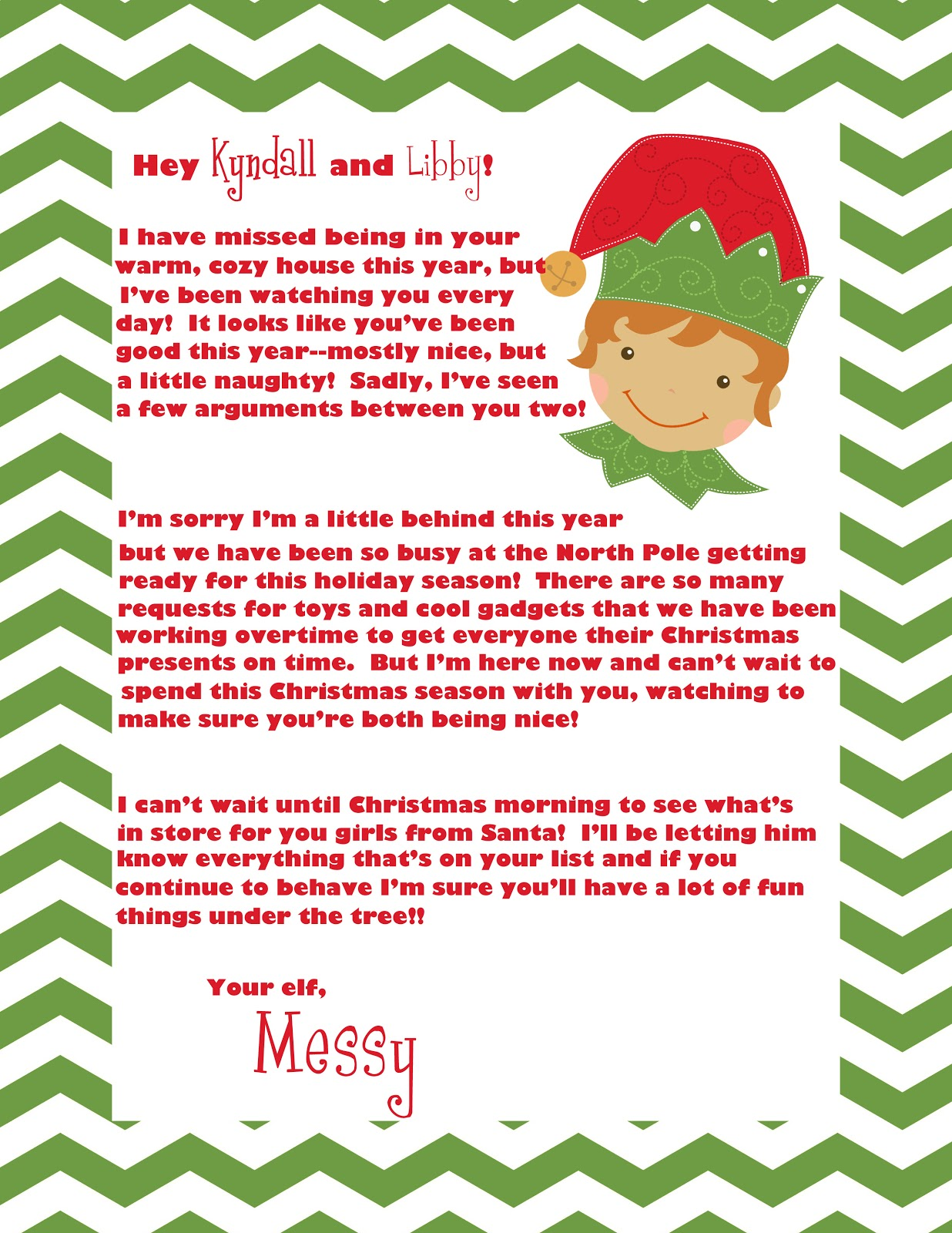Clever image regarding elf on the shelf letter printable