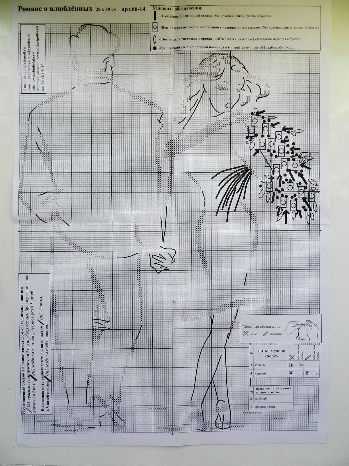 Романс о влюбленных вышивка готовая работа - Венок изобилия 76