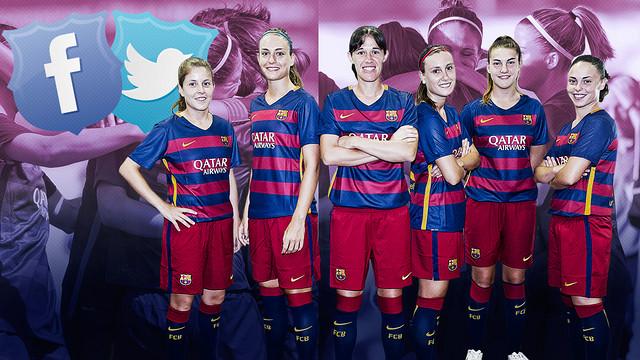 El Barça femenino estrena perfiles en Facebook y Twitter