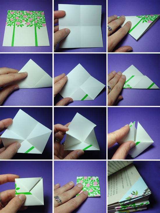Как сделать закладку уголок для книг