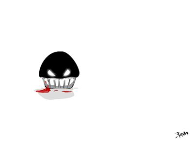 Toonie's Junkyard: Evil Cupcake