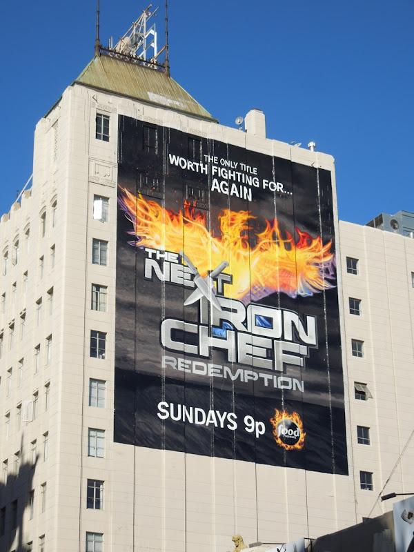 Next Iron Chef Redemption giant billboard