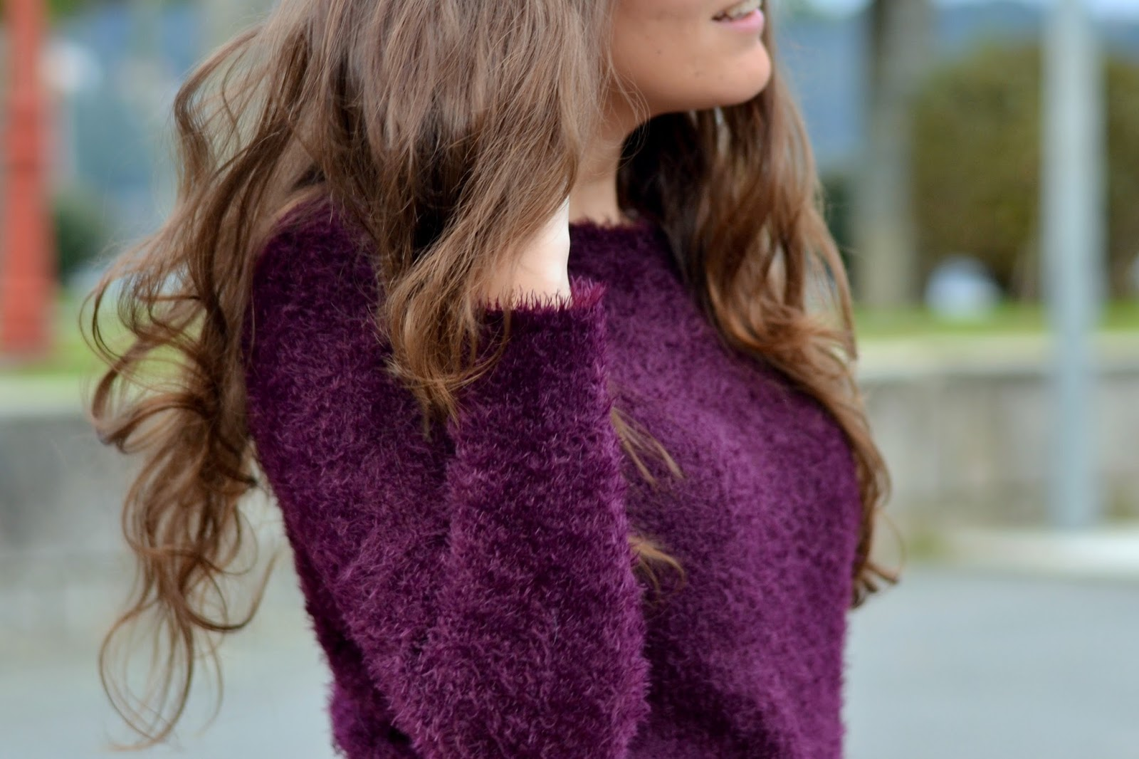 H&M purple sweater