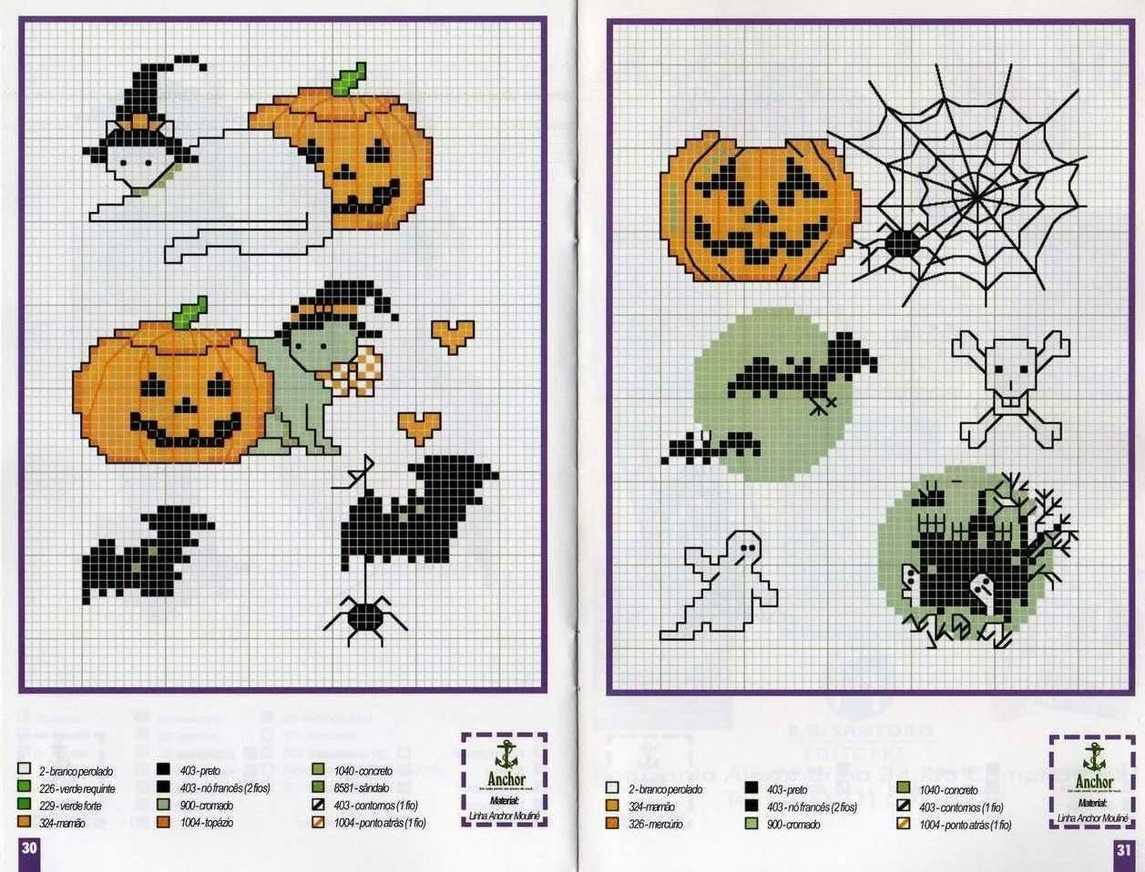 Вышивка крестом схемы хэллоуин 93