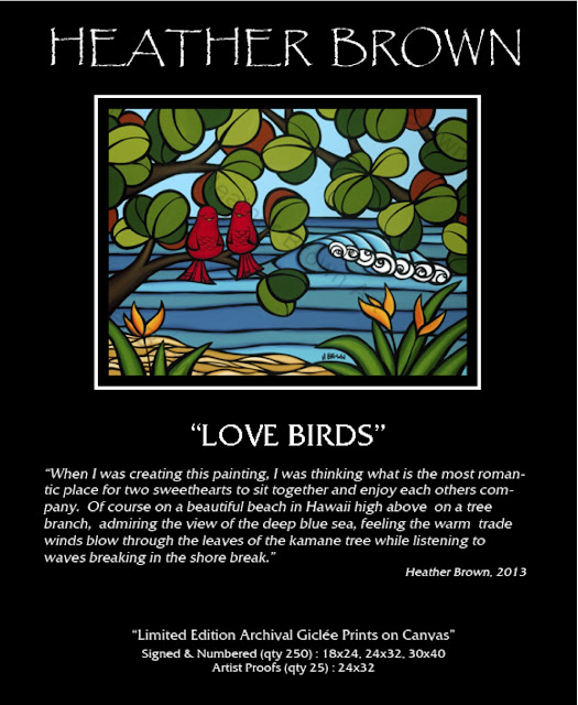 bird art love aloha art hawaii artist