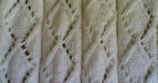 Knitting Yfwd Sl1 : Knitting galore saturday stitch lacy diamond