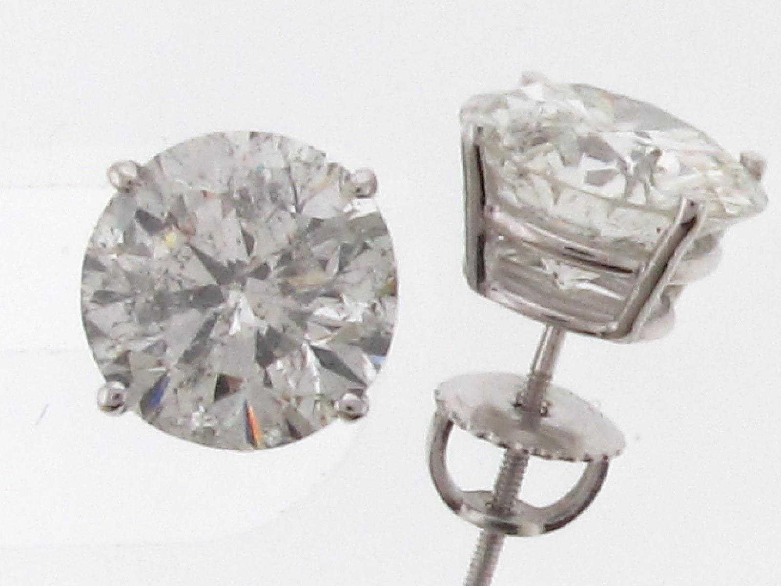 Fake Diamond Earring Round Fake Diamond Stud Earrings Pack