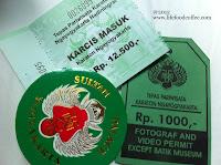 Entrance ticket and camera permit, Kraton Yogyakarta