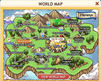 MapleStory Adventures - World Map 1