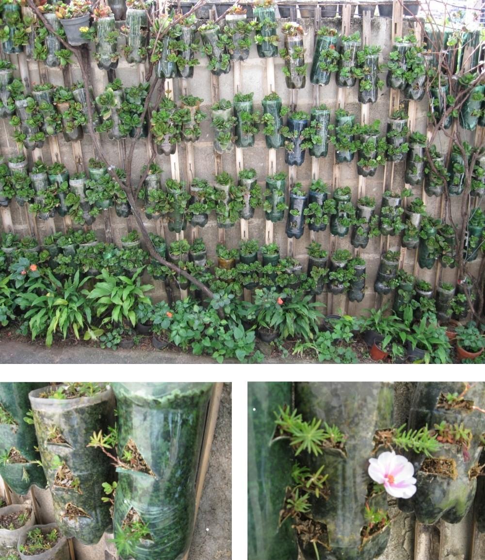 Ciclicca jardim de garrafas pet for Casas de plastico para jardin