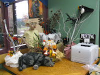 Dobby statue and many woodland creatures
