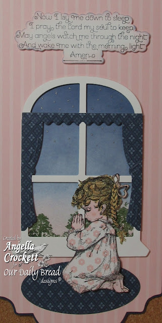 """ODBD """"Precious Girl"""", """"Children's Prayers"""", """"Bookmarks - Trees"""", ODBD Window Die Set, Project by Angie Crockett"""