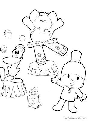 Pocoyo coloring page