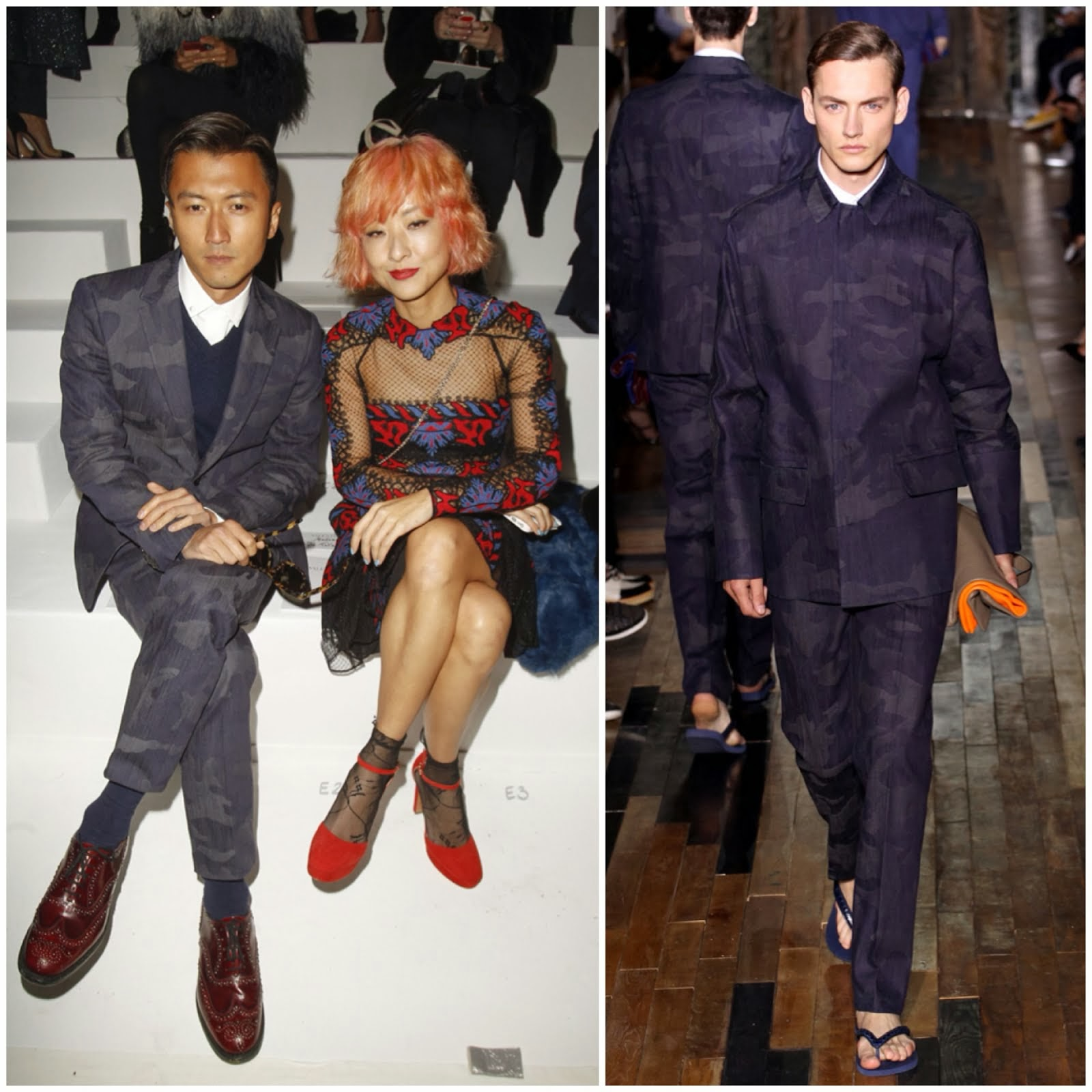 Nicholas Tse [谢霆锋] in Valentino - Paris Fashion Week Fall Winter 2014