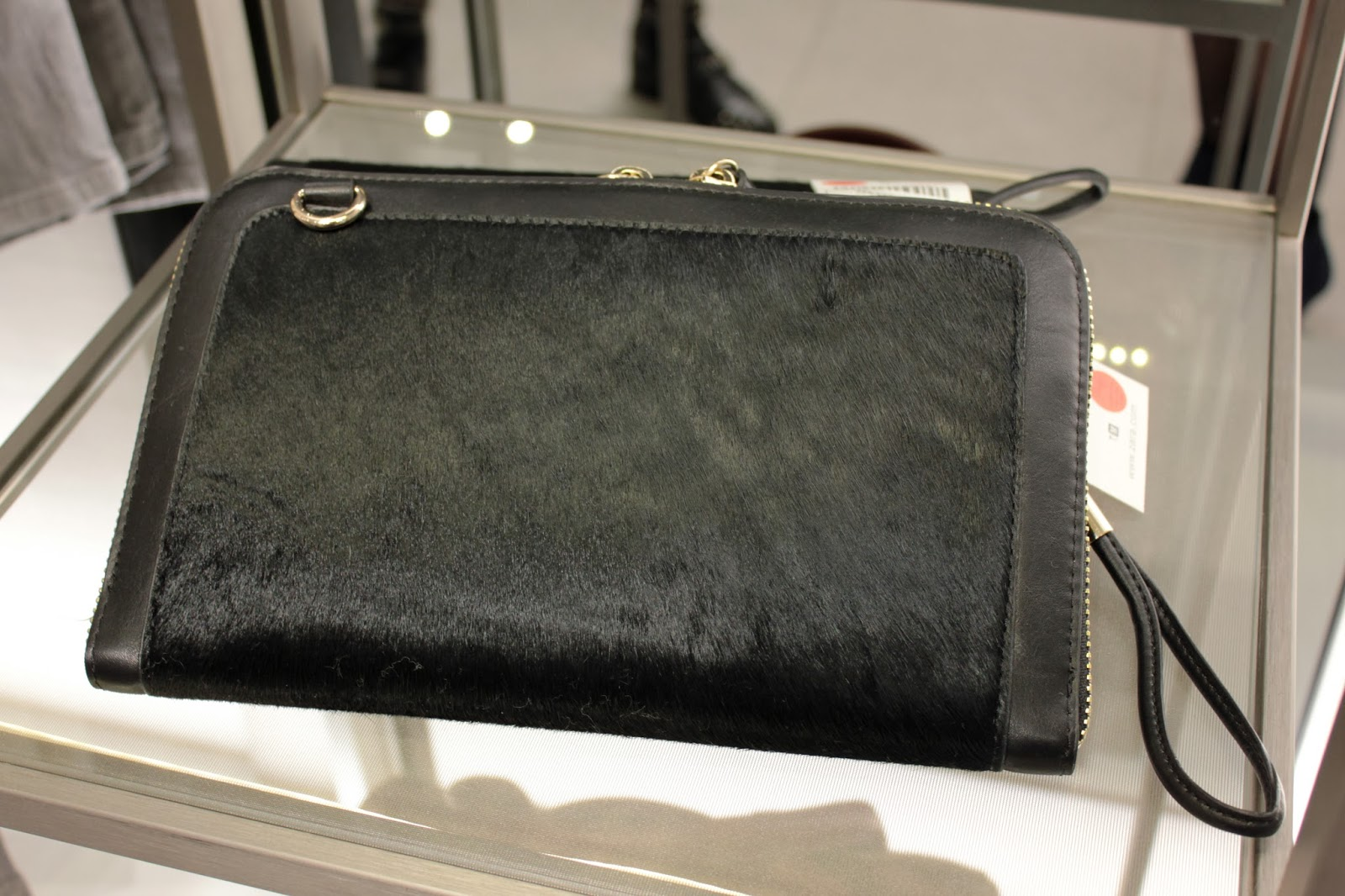 ZARA AW13 collection pony hair clutch