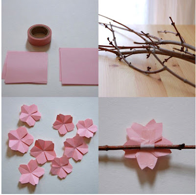 أشغال يدوية , زهرة الكرز , ديكور, الديكور, ديكورات, ديكور المنزل , http://decorat1.blogspot.com