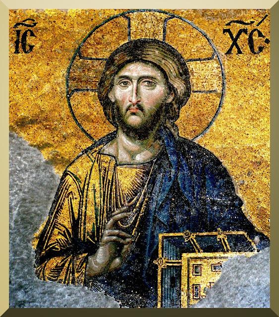 Jesus Christ - detail from Deesis mosaic, Hagia Sophia, Istanbul