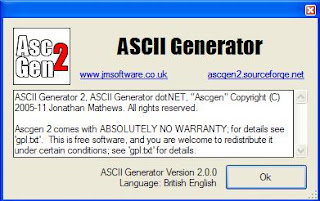 About - ASCII Generator