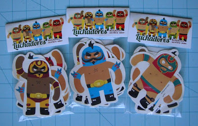 limited edition luchador stickers