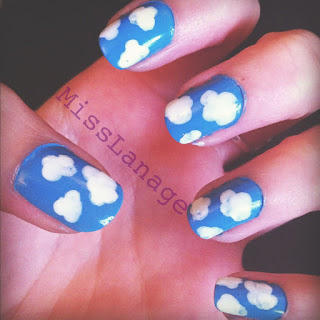 clouds nail art