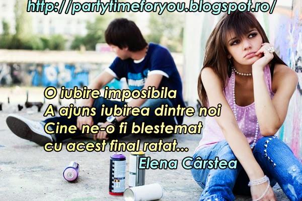 O iubire imposibila  A ajuns iubirea dintre noi  Cine ne-o fi blestemat  cu acest final ratat ...